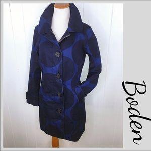 Boden Rain Coat MAC Trench Rainy Day Blue Small 6